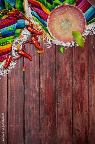 Background: Cinco De Mayo Celebration With Margarita - 80743661