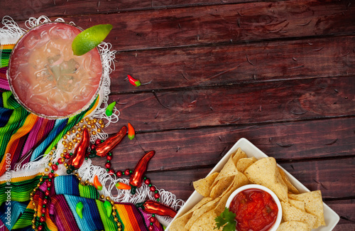 Background: Cinco De Mayo Celebration With Margarita - 80743690