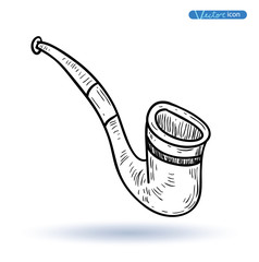 tobacco pipe, vector illustration.