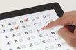 Leinwandbild Motiv Online exam