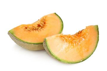 Slices of Cantaloupe melon
