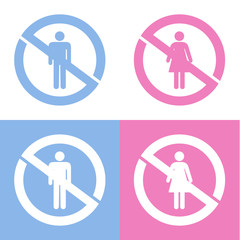 no sign icons set great for any use. Vector EPS10.