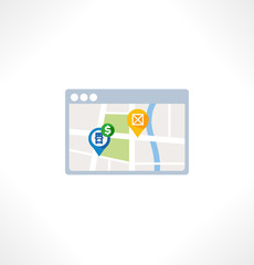 Navigation flat icon.