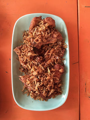 Fried Chicken : famous Thai dish, Fried Chicken with garlic