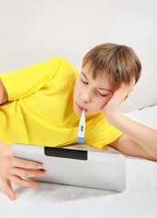 Sick Teenager with Tablet Computer