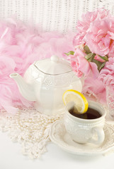 Feminine Tea Party With Roses