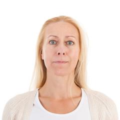 Portrait woman of mature age