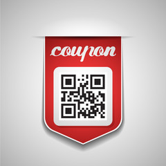 Sale coupon with QR-Code