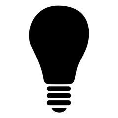 vector black bulb icon on white background. eps 10