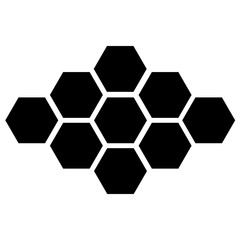 vector black hexagon icon on white background. eps 10
