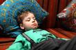 Child sleeping on sofa