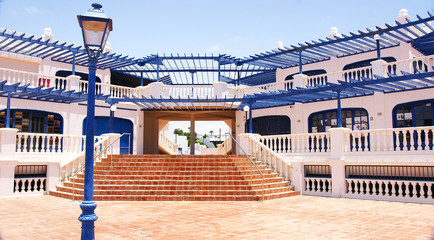 Arquitectura típica canaria en  Puerto del Carmen, Lanzarote