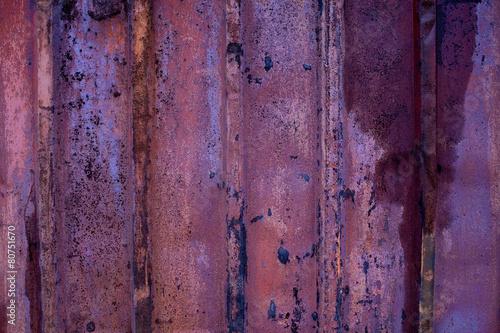 Grunge metal background. Detail metallic container.