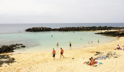 Playa en Costa Teguise, Lanzarote, Islas Canarias