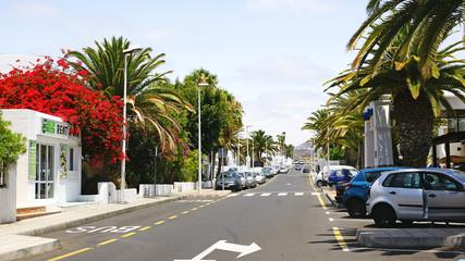 Calle en el Puerto del Carmen, Lanzarote