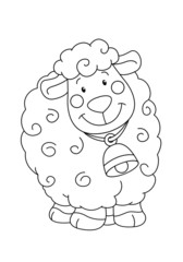 coloring book with a lamb