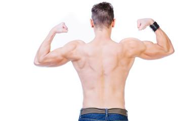 Man's muscular back