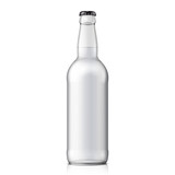 Mock Up Glass Beer Clean Bottle