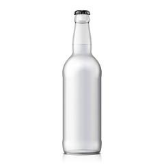 Mock Up Glass Beer Clean Bottle