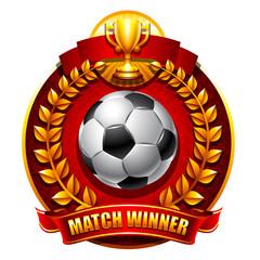 Football or soccer emblem
