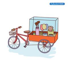 hot dog cart, vector illustration