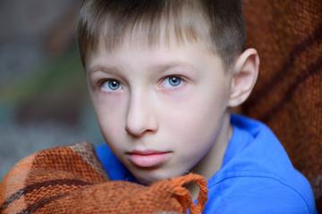 boy close-up portrait