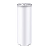 White Metal Aluminum Beverage Drink Can