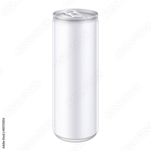 White Metal Aluminum Beverage Drink Can - 80755856