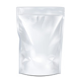 White Mock Up Blank Foil Food Or Drink Doypack - 80756448