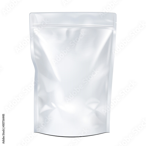 Blank White Foil Food or Drink Pouch Bag - 80756448