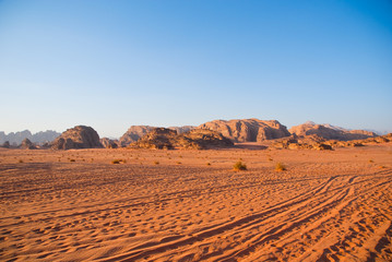Off-road Wadi Rum desert