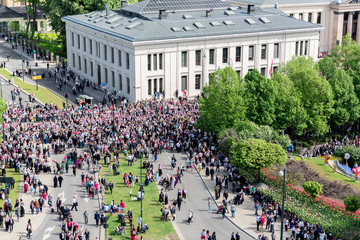 Norwegian Constitution Day bird view