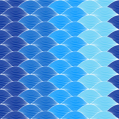 Abstract geometric pattern wave