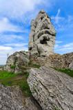 Limestone rocks in spring landscape of Poland near Ogrodzieniec - 80758644