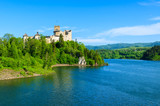 View of Niedzica castle built on bank of Dunajec river, Poland - 80758870