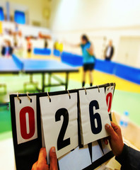 Score of a table tennis match