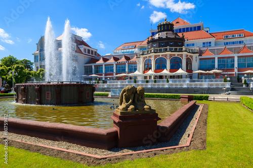 Fountain Sopot seaside town park in summer, Baltic Sea, Poland - 80759412