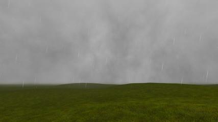 Gloomy landscape with rain 4