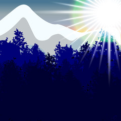 Mountain landscape. Vector. 10
