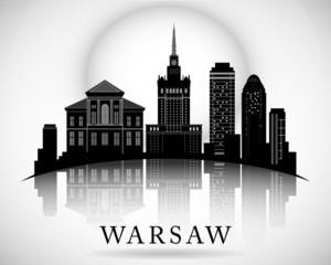 Modern Warsaw City Skyline Design. Poland