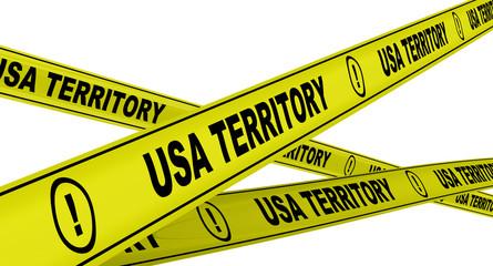 Территория США (USA TERRITORY). Желтая оградительная лента