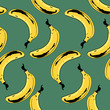 Bananas Seamless Pattern - 80760842
