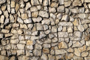 background light stone wall