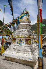Tibetan Stupa and Flags