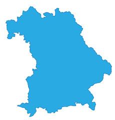 Bayern Karte Umriss blau