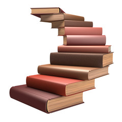 Book Ladder. Clipping path included.