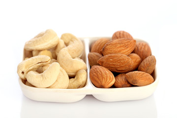 Almonds and cashew nuts