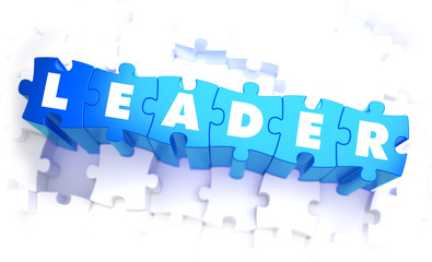 Leader - White Word on Blue Puzzles.