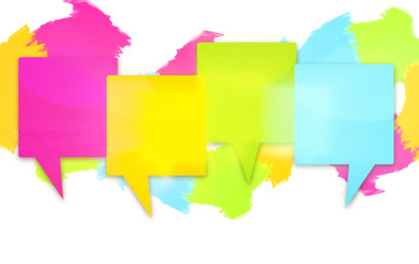 four colored blank icons