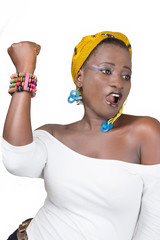 Femme africaine révoltée.